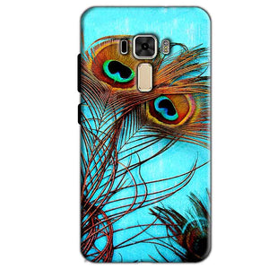 Asus Zenfone 3 Mobile Covers Cases Peacock blue wings - Lowest Price - Paybydaddy.com