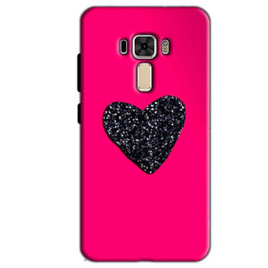 Asus Zenfone 3 Mobile Covers Cases Pink Glitter Heart - Lowest Price - Paybydaddy.com