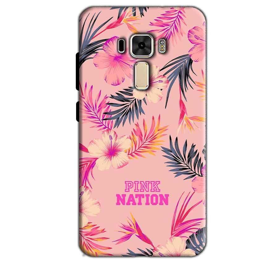 Asus Zenfone 3 Mobile Covers Cases Pink nation - Lowest Price - Paybydaddy.com