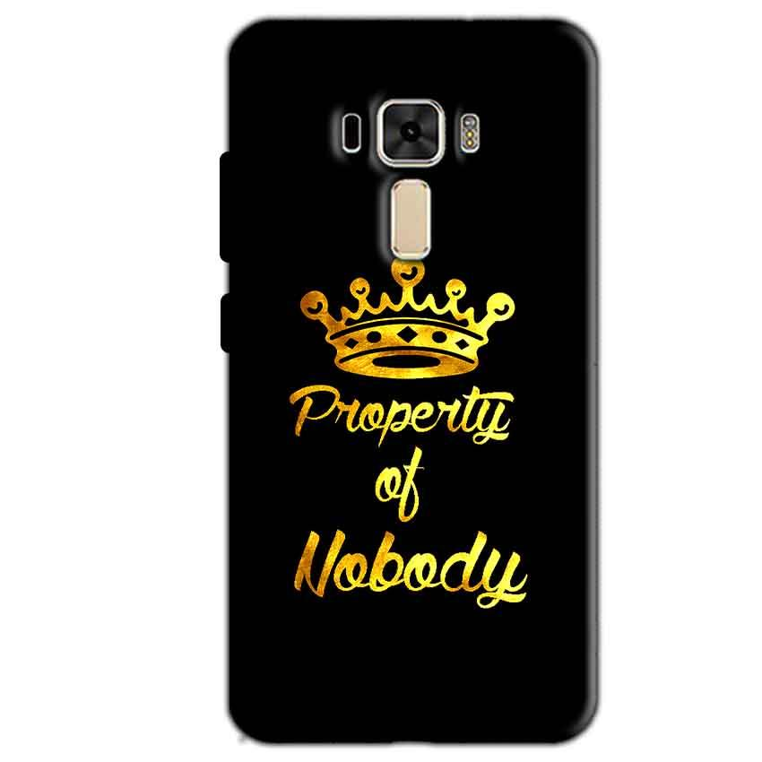 Asus Zenfone 3 Mobile Covers Cases Property of nobody with Crown - Lowest Price - Paybydaddy.com