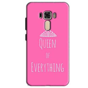 Asus Zenfone 3 Mobile Covers Cases Queen Of Everything Pink White - Lowest Price - Paybydaddy.com