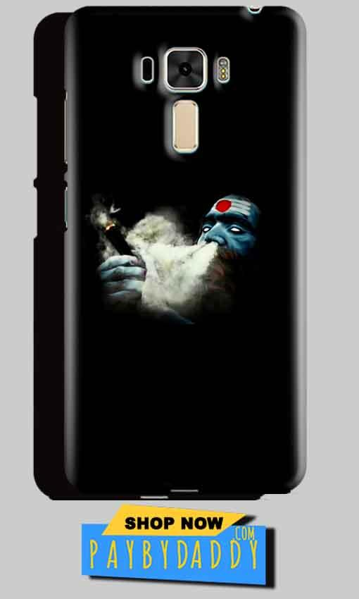 Asus Zenfone 3 Mobile Covers Cases Shiva Aghori Smoking - Lowest Price - Paybydaddy.com