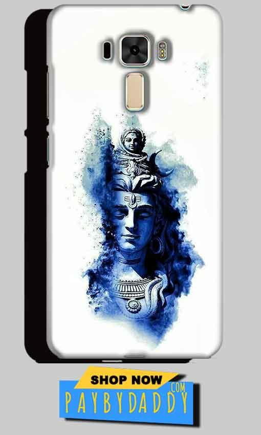 Asus Zenfone 3 Mobile Covers Cases Shiva Blue White - Lowest Price - Paybydaddy.com