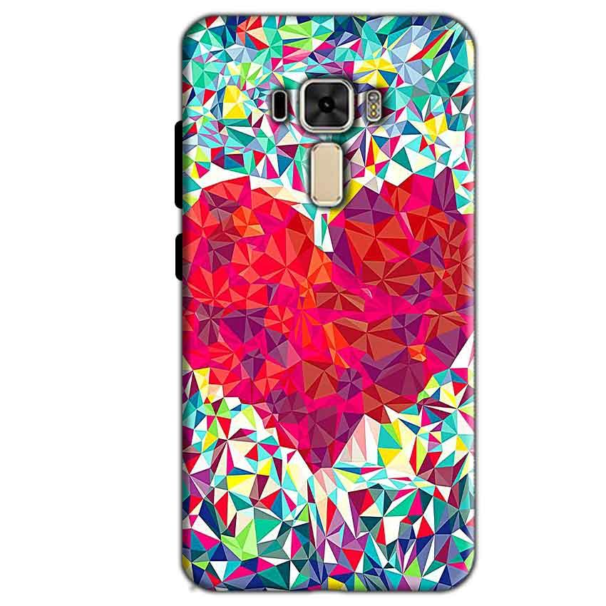 Asus Zenfone 3 Mobile Covers Cases heart Prisma design - Lowest Price - Paybydaddy.com