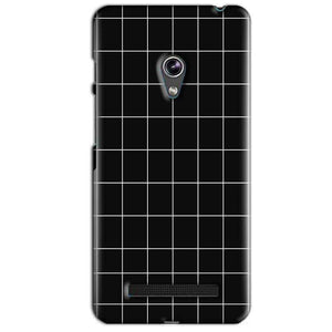 Asus Zenfone 5 Mobile Covers Cases Black with White Checks - Lowest Price - Paybydaddy.com