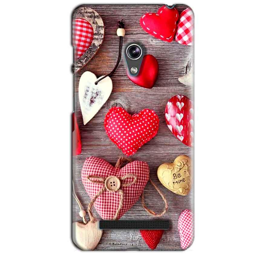 Asus Zenfone 5 Mobile Covers Cases Hearts- Lowest Price - Paybydaddy.com