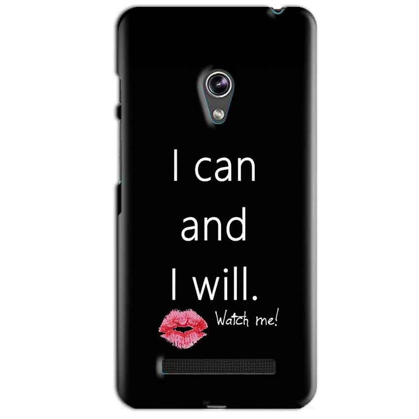 Asus Zenfone 5 Mobile Covers Cases i can and i will Lips - Lowest Price - Paybydaddy.com