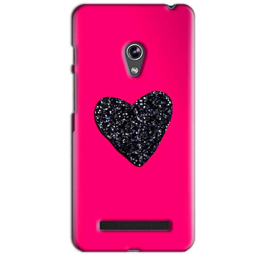 Asus Zenfone 5 Mobile Covers Cases Pink Glitter Heart - Lowest Price - Paybydaddy.com