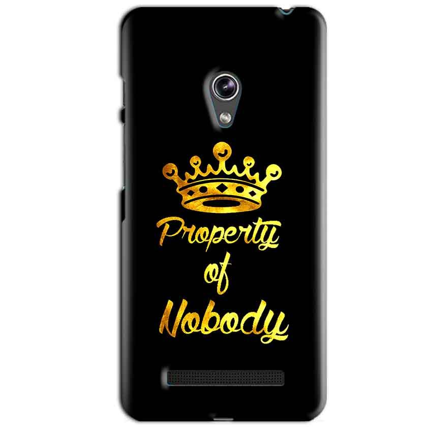 Asus Zenfone 5 Mobile Covers Cases Property of nobody with Crown - Lowest Price - Paybydaddy.com