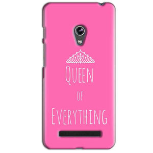Asus Zenfone 5 Mobile Covers Cases Queen Of Everything Pink White - Lowest Price - Paybydaddy.com