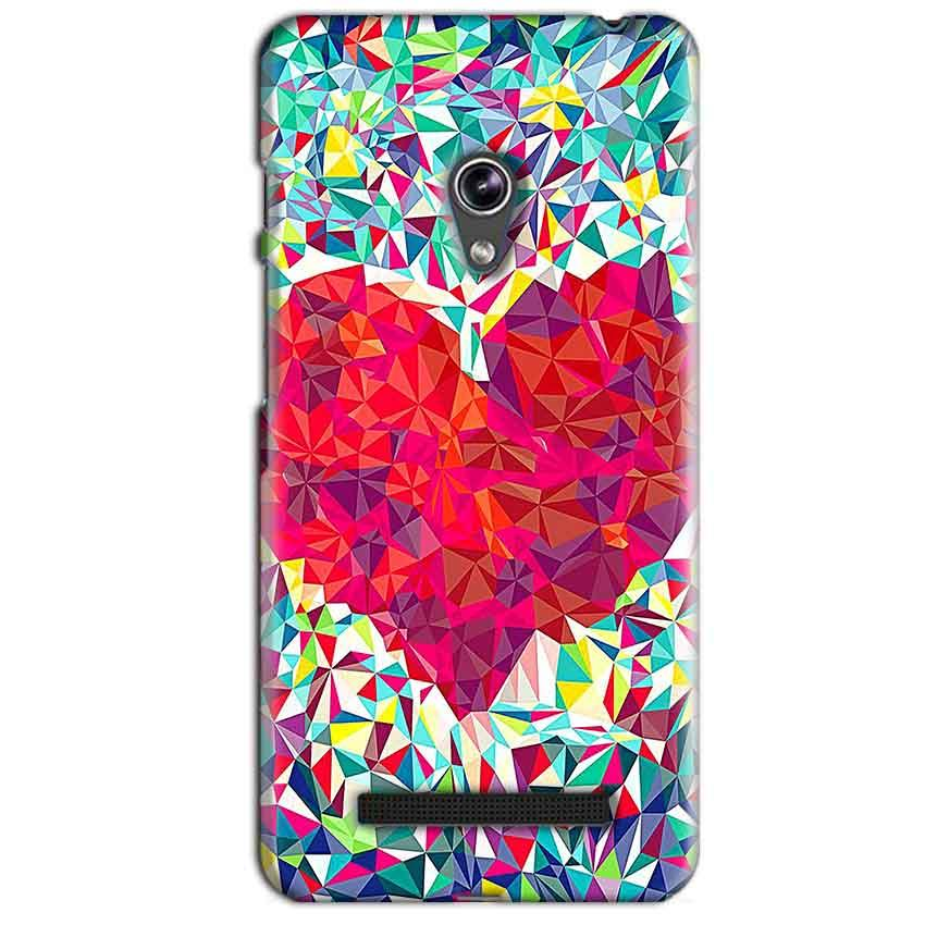 Asus Zenfone 5 Mobile Covers Cases heart Prisma design - Lowest Price - Paybydaddy.com