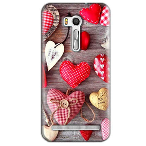Asus Zenfone Go ZB551KL Mobile Covers Cases Hearts- Lowest Price - Paybydaddy.com