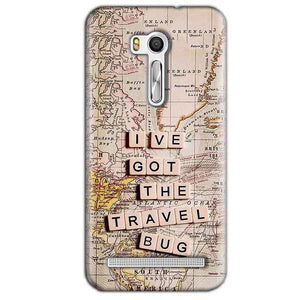 Asus Zenfone Go ZB551KL Mobile Covers Cases Live Travel Bug - Lowest Price - Paybydaddy.com