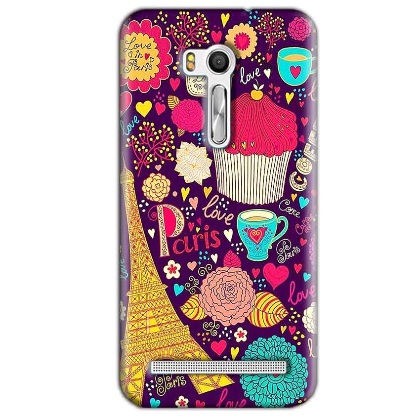 Asus Zenfone Go ZB551KL Mobile Covers Cases Paris Sweet love - Lowest Price - Paybydaddy.com