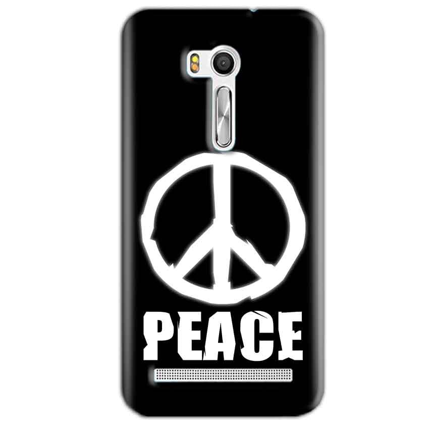 Asus Zenfone Go ZB551KL Mobile Covers Cases Peace Sign In White - Lowest Price - Paybydaddy.com