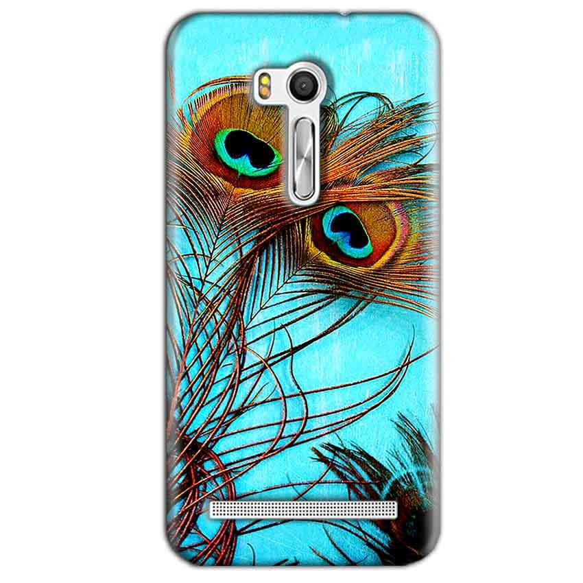 Asus Zenfone Go ZB551KL Mobile Covers Cases Peacock blue wings - Lowest Price - Paybydaddy.com