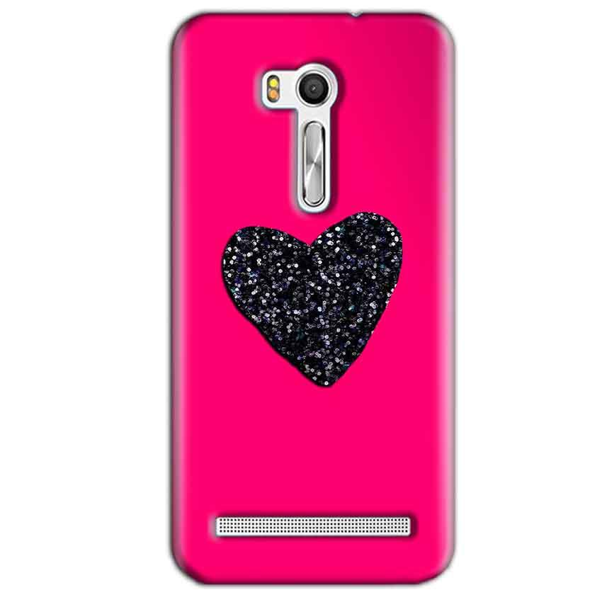 Asus Zenfone Go ZB551KL Mobile Covers Cases Pink Glitter Heart - Lowest Price - Paybydaddy.com