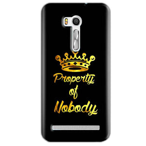 Asus Zenfone Go ZB551KL Mobile Covers Cases Property of nobody with Crown - Lowest Price - Paybydaddy.com