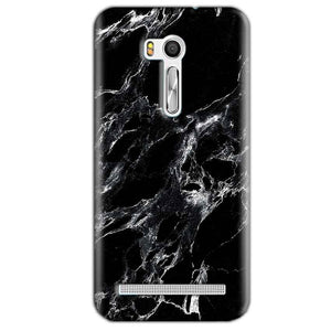 Asus Zenfone Go ZB551KL Mobile Covers Cases Pure Black Marble Texture - Lowest Price - Paybydaddy.com