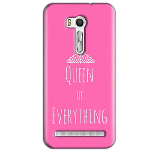 Asus Zenfone Go ZB551KL Mobile Covers Cases Queen Of Everything Pink White - Lowest Price - Paybydaddy.com
