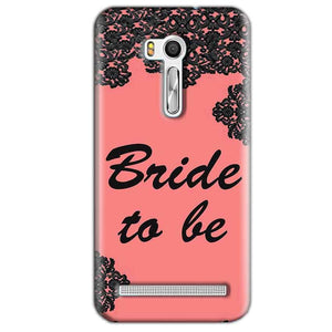 Asus Zenfone Go ZB551KL Mobile Covers Cases Mobile Covers Cases bride to be with ring Black Pink - Lowest Price - Paybydaddy.com
