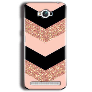 Asus Zenfone Max Mobile Covers Cases Black down arrow Pattern - Lowest Price - Paybydaddy.com