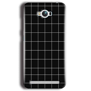 Asus Zenfone Max Mobile Covers Cases Black with White Checks - Lowest Price - Paybydaddy.com
