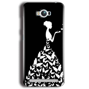 Asus Zenfone Max Mobile Covers Cases Butterfly black girl - Lowest Price - Paybydaddy.com