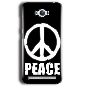 Asus Zenfone Max Mobile Covers Cases Peace Sign In White - Lowest Price - Paybydaddy.com