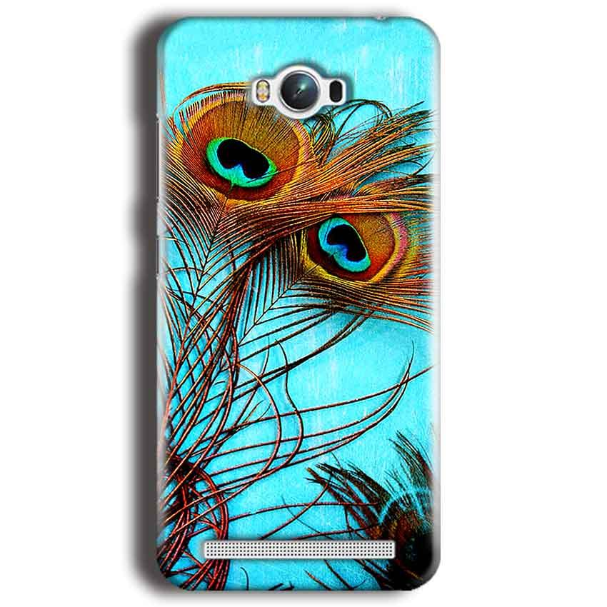 Asus Zenfone Max Mobile Covers Cases Peacock blue wings - Lowest Price - Paybydaddy.com