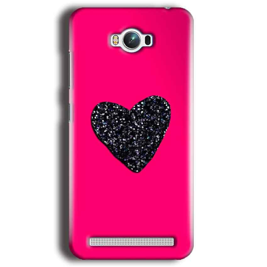 Asus Zenfone Max Mobile Covers Cases Pink Glitter Heart - Lowest Price - Paybydaddy.com