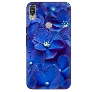 Asus Zenfone Max Pro M1 Mobile Covers Cases Blue flower - Lowest Price - Paybydaddy.com