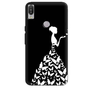 Asus Zenfone Max Pro M1 Mobile Covers Cases Butterfly black girl - Lowest Price - Paybydaddy.com
