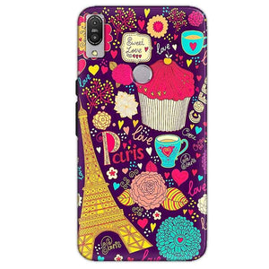 Asus Zenfone Max Pro M1 Mobile Covers Cases Paris Sweet love - Lowest Price - Paybydaddy.com