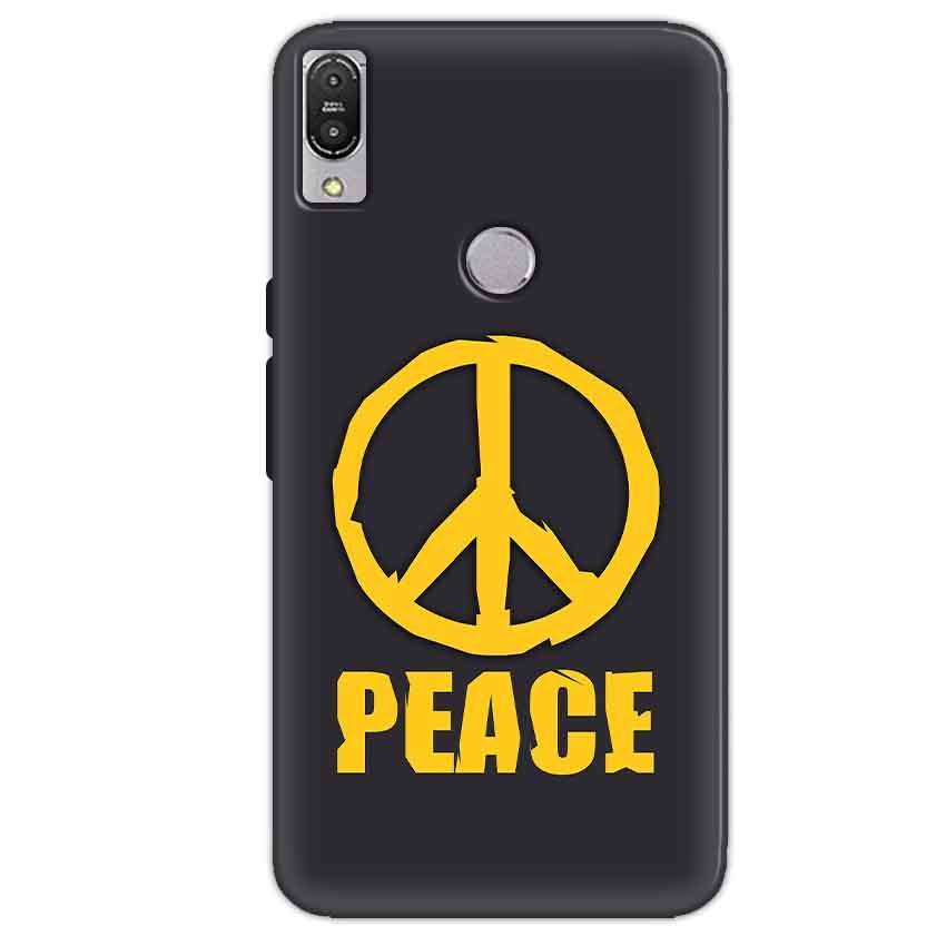 Asus Zenfone Max Pro M1 Mobile Covers Cases Peace Blue Yellow - Lowest Price - Paybydaddy.com
