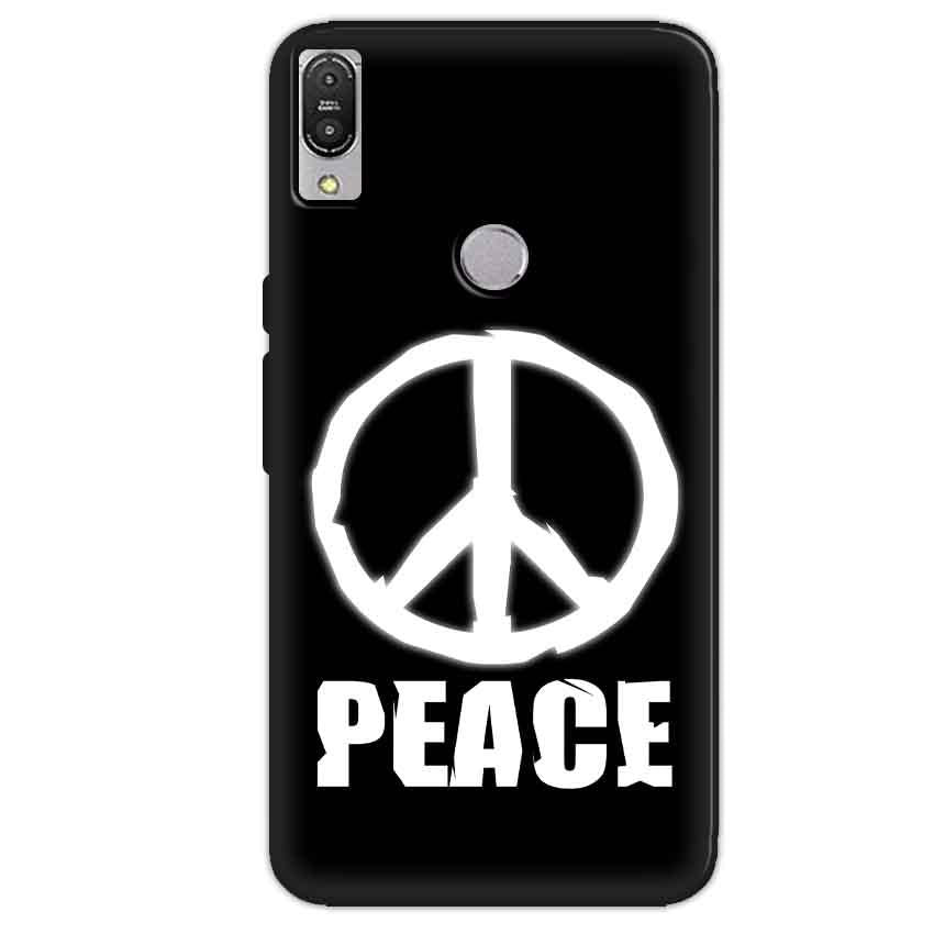Asus Zenfone Max Pro M1 Mobile Covers Cases Peace Sign In White - Lowest Price - Paybydaddy.com