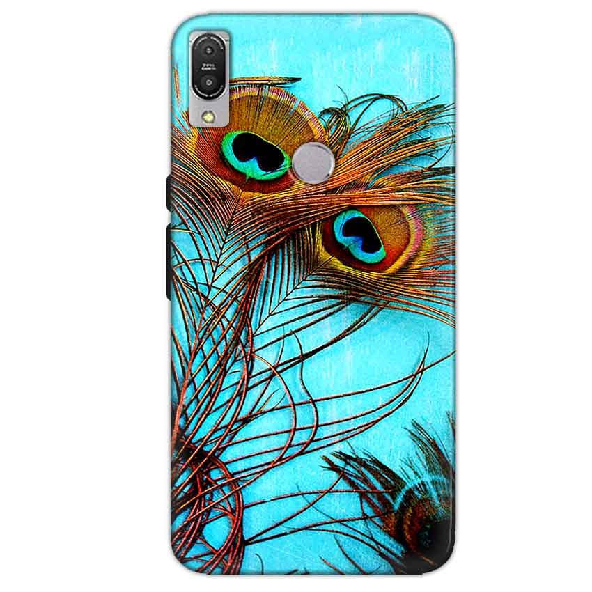 Asus Zenfone Max Pro M1 Mobile Covers Cases Peacock blue wings - Lowest Price - Paybydaddy.com