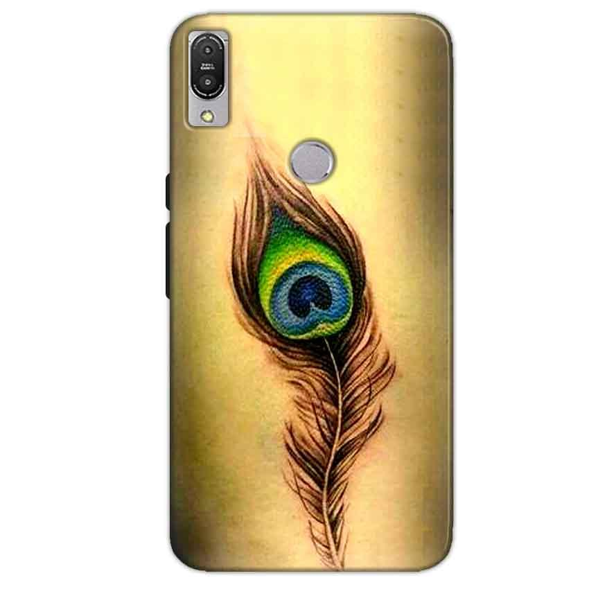 Asus Zenfone Max Pro M1 Mobile Covers Cases Peacock coloured art - Lowest Price - Paybydaddy.com