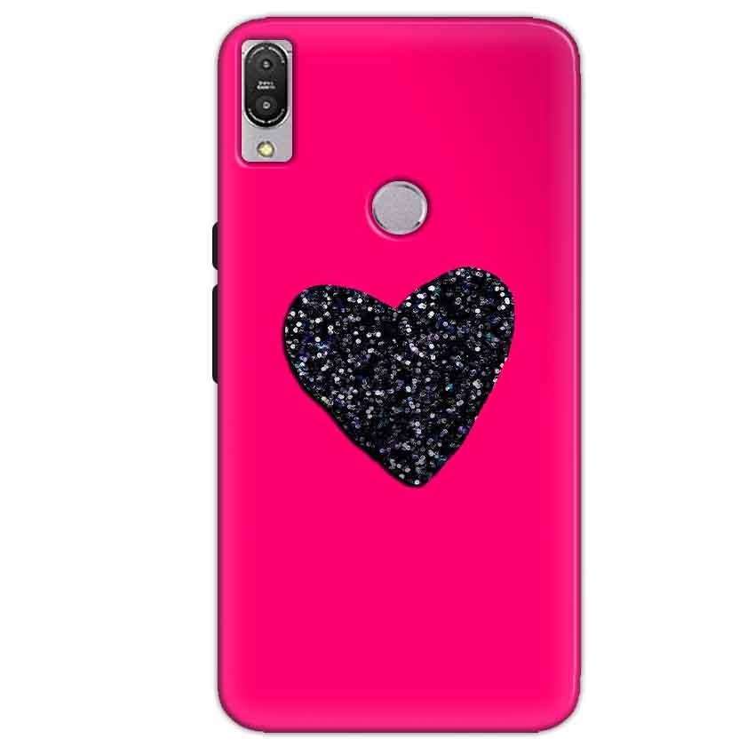 Asus Zenfone Max Pro M1 Mobile Covers Cases Pink Glitter Heart - Lowest Price - Paybydaddy.com