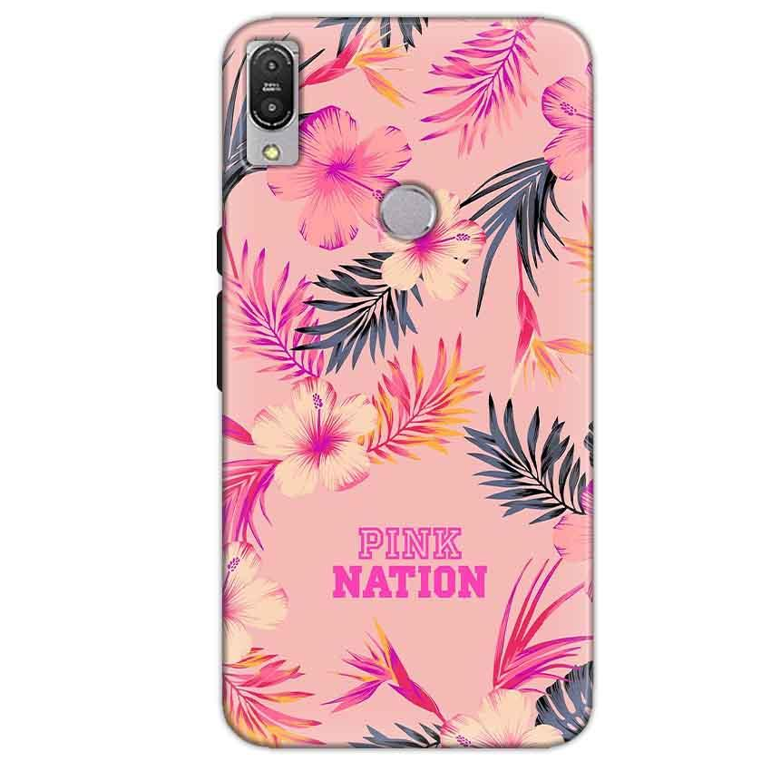 Asus Zenfone Max Pro M1 Mobile Covers Cases Pink nation - Lowest Price - Paybydaddy.com
