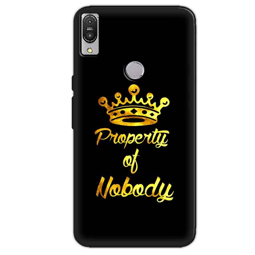 Asus Zenfone Max Pro M1 Mobile Covers Cases Property of nobody with Crown - Lowest Price - Paybydaddy.com