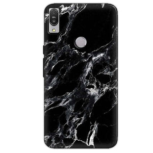 Asus Zenfone Max Pro M1 Mobile Covers Cases Pure Black Marble Texture - Lowest Price - Paybydaddy.com