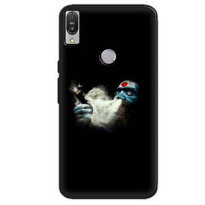 Asus Zenfone Max Pro M1 Mobile Covers Cases Shiva Aghori Smoking - Lowest Price - Paybydaddy.com