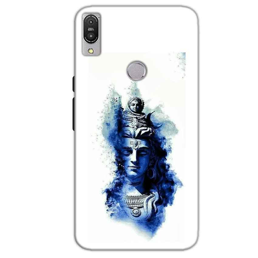 Asus Zenfone Max Pro M1 Mobile Covers Cases Shiva Blue White - Lowest Price - Paybydaddy.com
