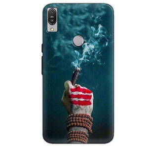 Asus Zenfone Max Pro M1 Mobile Covers Cases Shiva Hand With Clilam - Lowest Price - Paybydaddy.com