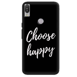 Asus Zenfone Max Pro M1 Mobile Covers Cases Choose happy - Lowest Price - Paybydaddy.com