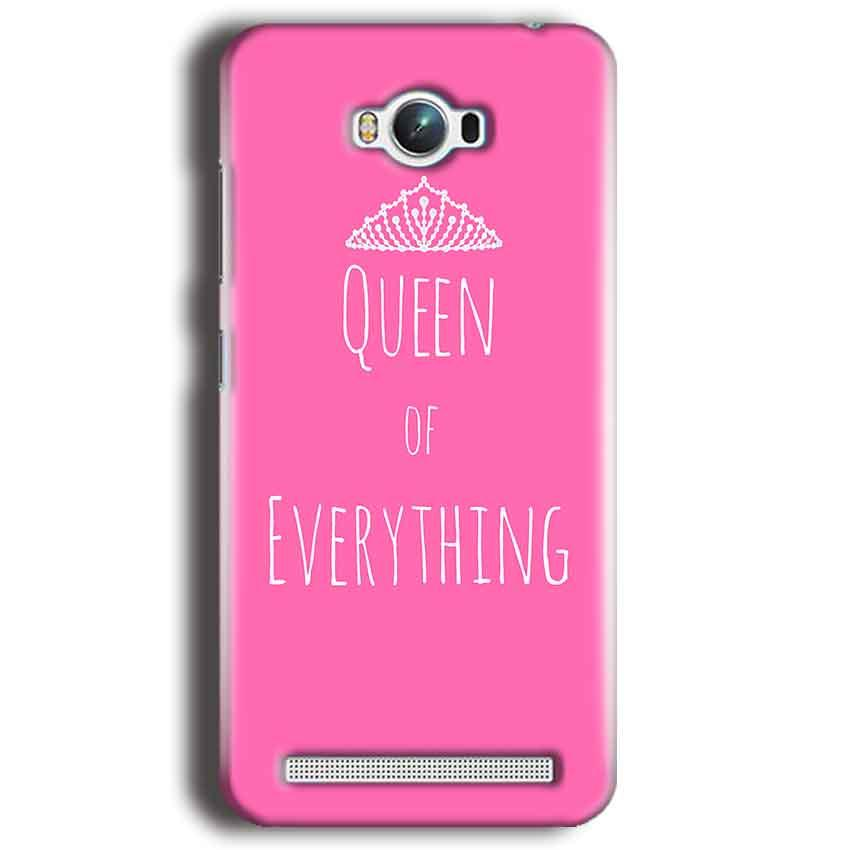 Asus Zenfone Max Mobile Covers Cases Queen Of Everything Pink White - Lowest Price - Paybydaddy.com