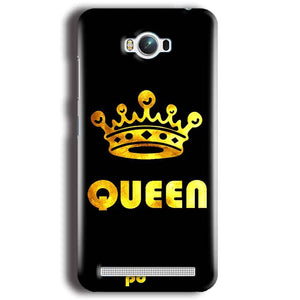 Asus Zenfone Max Mobile Covers Cases Queen With Crown in gold - Lowest Price - Paybydaddy.com