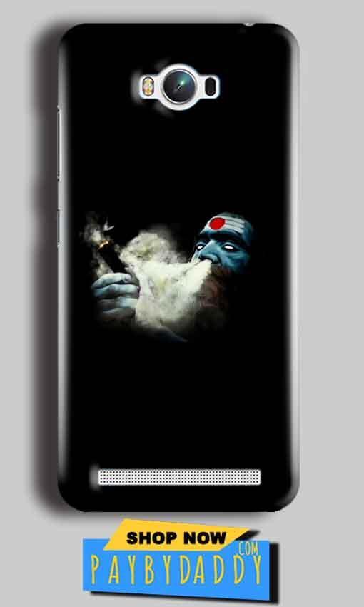 Asus Zenfone Max Mobile Covers Cases Shiva Aghori Smoking - Lowest Price - Paybydaddy.com