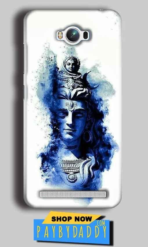 Asus Zenfone Max Mobile Covers Cases Shiva Blue White - Lowest Price - Paybydaddy.com